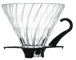 Hario V60 Glass Dripper - Black 1 Cup